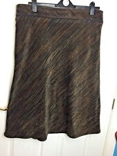 EWM Soft Touch calf length Skirt Brown Size 20 work business autumn thick