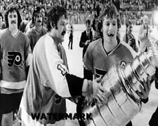 1975 Philadelphia Flyers Berent Parent Bobby Clarke  Stanley Cup Photo 8 X 10