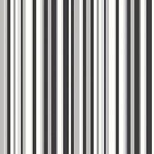 Papel pintado Debona DE LUJO NUEVO Trend código barras Rayas Estampado - Negro &