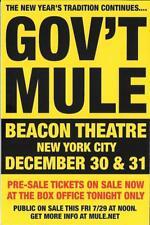 Gov't Mule Concert Handbill Mini-Poster Beacon Nyc