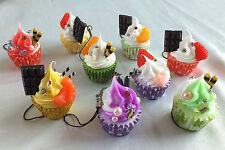 3 Mix Color 4.5cm Taza Pastel Cupcake encanto Llavero Miniatura Fiesta De Cocina De Panadería