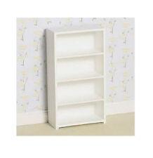 Dolls House Furniture: Modern White Shelving Unit   :   12th scale
