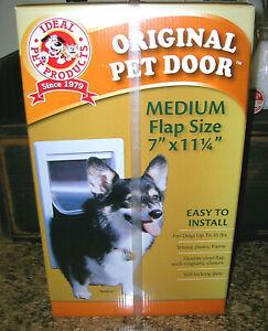 Ideal Pet Products Medium Dog Cat Door 7 x 11.25 Flap Easy Install Thermoplastic