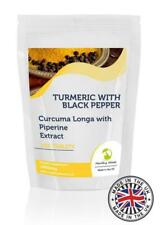 Turmeric with Black Pepper Tablets Curcuma Piperine Extract 1400mg Tablets Pills