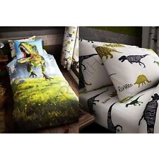 DINO T-REX DINOSAUR BEDDING - SINGLE DUVET COVER SET / FITTED SHEET AVAILABLE