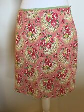FJALL Fjäll Pink Paisley Floral Skirt Size 4 100% Cotton Lined