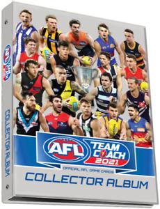 2021 AFL TEAMCOACH TRADING BLANK ALBUM FOLDER TEAM COACH HOLDS 234 CARD INSTOCK