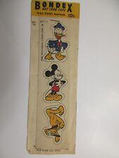 Disney Appliques MICKEY Donald Pluto BONDEX HOT IRON TAPE 1946 UNUSED