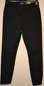 Damen m&s Collection 5 Pocket Stretch Jeggings meliert Effekt Größe 12 Medium schwarz