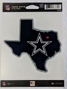 Dallas Cowboys Home State Sticker Texas TX Die Cut Decal Color Logo