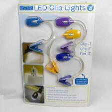 EZ Clip 4 Book Lights & Batteries & Micro Screwdriver White LEDs Flexible