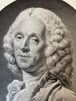 Roslin gravure eau forte etching Portrait Hyacinthe Collin De Vermont Roi France