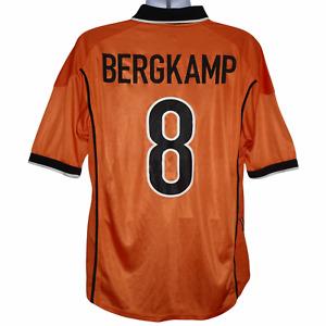 1998-2000 Holland Home Shirt #8 Bergkamp Nike XL (Very Good Condition)