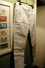 ZARA Z1975 WHITE GREY ICE QUEEN JEANS TROUSERS FLOWERS LEAVES FOREST FAIRY 10