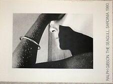 Ralph Gibson affiche The Seagull Sardinia 1980 New York femme nue