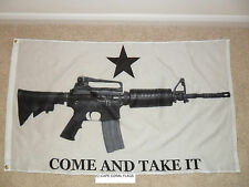 """COME AND TAKE IT"" GUN RIGHTS FLAG 3' X 5'  BOAT/MOTORCYCLE"