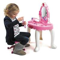 GIRLS DRESSING TABLE MIRROR PLAY SET KIDS GLAMOUR MIRROR MAKEUP GAME TOY PRESENT