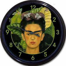 Frida Kahlo de Rivera Portrait Wall Clock Mexican Painter Artist Mexico City 10""