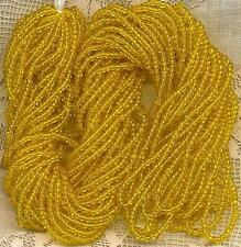Vintage Yellow Translucent Glass Seed Beads