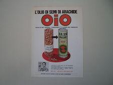 advertising Pubblicità 1969 OLIO DI SEMI OIO