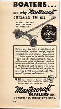 1952 Vintage Ad Mastercraft Boat Trailers Middletown,CT