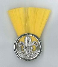 FIJI ISLAND SCOUTS - SCOUT INSTRUCTOR (YELLOW COLOUR) Metal Plume / Hat Patch