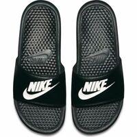 Nike Benassi JDI Slides Black White USA Size Sandals