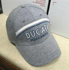 Ducati Meccanica Grey Stripe Cap Hat Racing Motorcycle