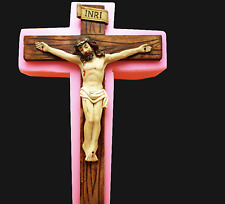 3D Jesus Christ Religious Cross Mould Chocolate Polymer Clay Silicone Mold Cake