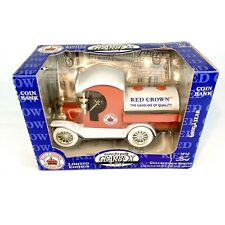 Gearbox 1912 Ford Tanker Limited Edition Red Crown Gasoline 1:24 Coin Bank New