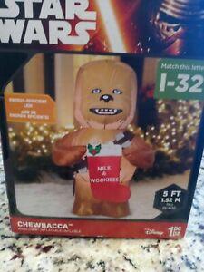 Disney Star Wars Chewbacca Gemmy Airblown Inflatable 5 Ft Milk Wookies Christmas