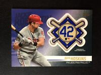 2018 Topps Update Rhys Hoskins Jackie Robinson Patch #JRP-RH, Phillies