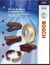 New 2014 Bosch Brake Components Application Catalog 2213922