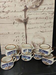 9 Vintage Soup Mugs