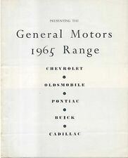 General Motors Chevrolet Oldsmobile Pontiac Buick Cadillac 1965 Reino Unido Folleto