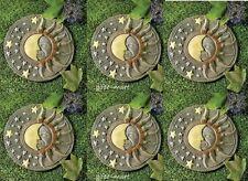 6 solar GLOW IN The DARK sun moon star solar celestial stepping stone path light