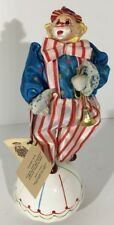 """Vintage 70s Victoria Collectibles Musical Send In The Clowns Porcelain Clown 11"""""""