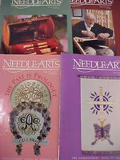 Needle Arts Magazines Lot of 4 Back Issues 1998 Ega Embroidery Needlepoint