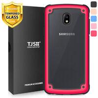 For Samsung Galaxy J7 Crown/Star/J7 V 2018 Phone Case TJS Prime +Tempered Glass