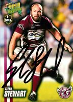 ✺Signed✺ 2010 MANLY SEA EAGLES NRL Card GLENN STEWART
