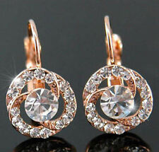 Rose Gold Plated Flowers & Plants Costume Earrings