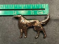 1 Wolf Hound wolfhound Dog Pin jewelry pin goldtone