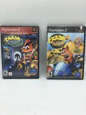 Crash Bandicoot: Wrath of Cortex Nitro Kart Game Lot Manual Sony PlayStation Ps2