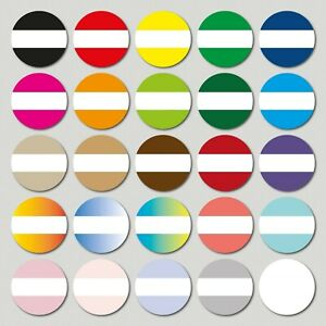 30 x BLANK Herb and Spice Jar Labels, 40mm diameter - Choice of 25 colours