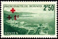 "MONACO STAMP TIMBRE YVERT N° 210 "" CROIX ROUGE  +1F SUR 2F50 ""  NEUF x TB"