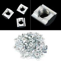 50x Kohlenstoffstahl T-nut Mutter M6*10*5 Schiebemutter für 20 Serie Aluminium