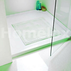 Shower Bath Mat Square Non Slip Cushioned Mat, Soft With 17 Suction, 52x52cm