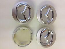 Set de 4 MAZDA face 57mm clip 50mm alloy wheels center caps set [ Silver ]