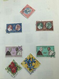 7 Stamps Of Burundi 1963 To 1972