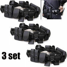 3X Police Security Guard Modular Enforcement Equipment Duty Belt Tactical Nylon!